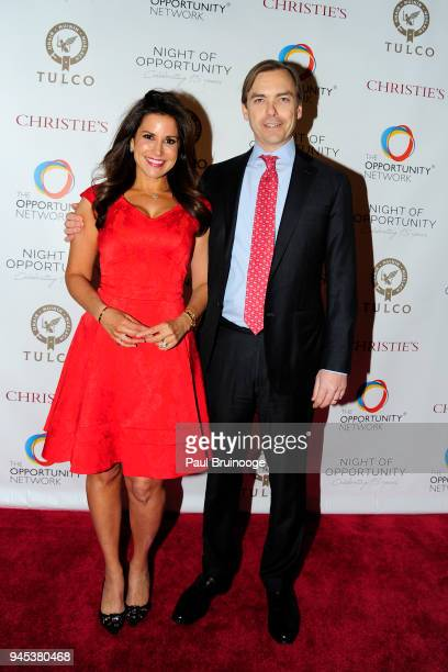 Gigi Stone Woods and Ian Woods attend The Opportunity Network's 11th Annual Night of Opportunity Gala at Cipriani Wall Street on April 9 2018 in New...