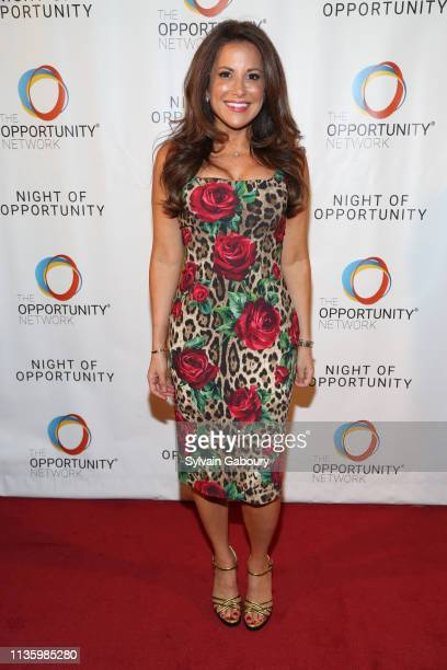 Gigi Stone Woods attends 12th Annual Night Of Opportunity Gala at Cipriani Wall Street on April 8 2019 in New York City