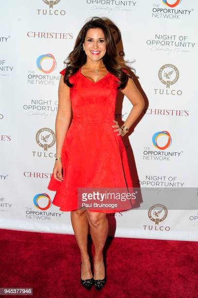 Gigi Stone Woods attends The Opportunity Network's 11th Annual Night of Opportunity Gala at Cipriani Wall Street on April 9 2018 in New York City
