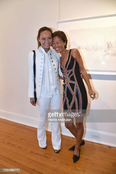 """Gigi Tang and Xin Fu attend the release of Christophe von Hohenberg's new book """"The White Album of The Hamptons"""" and Bruce Helander's """"Collages and..."""