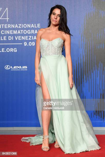 Giglia Marra walks the red carpet ahead of the 'Manuel' screening during the 74th Venice Film Festival at Sala Giardino on September 7 2017 in Venice...