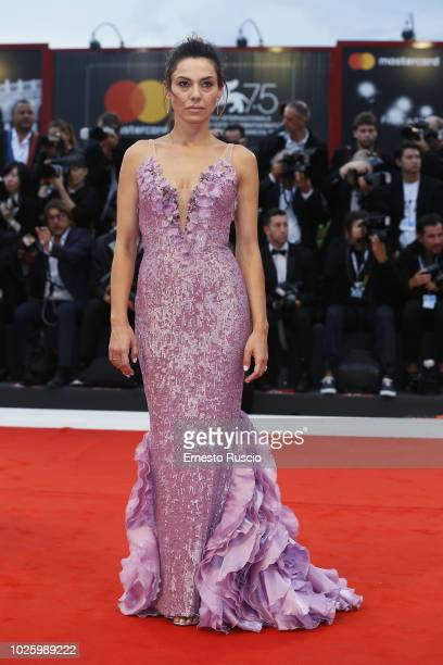 Giglia Marra walks the red carpet ahead of the 'Suspiria' screening during the 75th Venice Film Festival at Sala Grande on September 1 2018 in Venice...