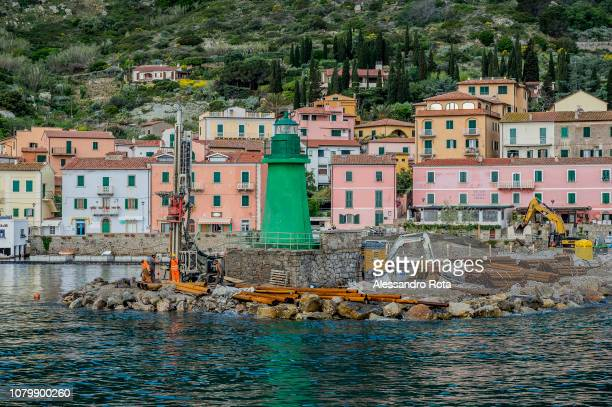Giglio Island on May 42018 in TuscanyItaly