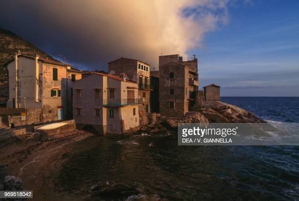Giglio Porto and Cala del Saraceno Giglio island Tuscan Archipelago National Park Tuscany Italy