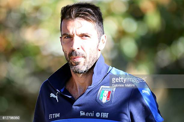 Giianluigi Buffon of Italy during the training session at Coverciano on October 5 2016 in Florence Italy
