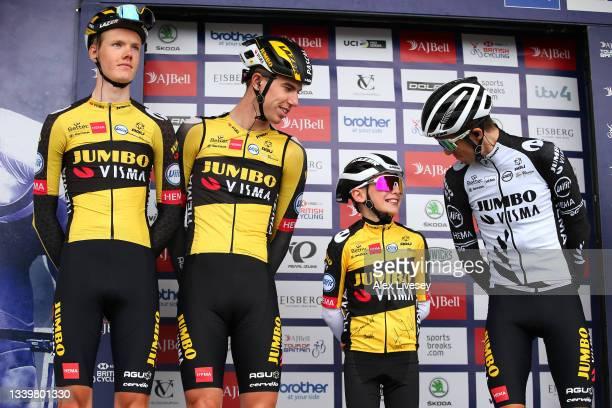Gijs Leemreize of Netherlands, Pascal Eenkhoorn of Netherlands, Xander Graham of United Kingdom and George Bennett of New Zealand and Team Jumbo -...