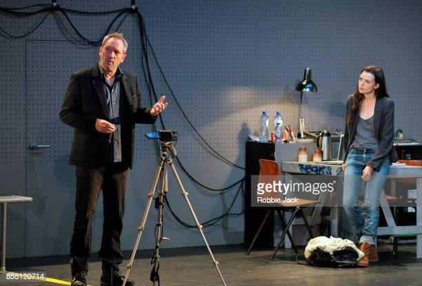 Gijs Scholten van Aschat as Hendrik Vogler and Gaite Jansen as Anna in Taneelgroup Amsterdam's production of Ingmar Bergman's After the Rehearsal...