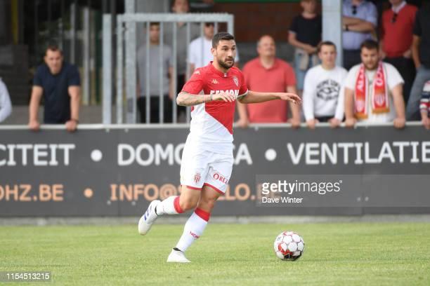 Gil Bastiao Dias of Monaco during the pre-season friendly match between AS Monaco and KSC Lokeren on July 7, 2019 in Wetteren, Belgium.