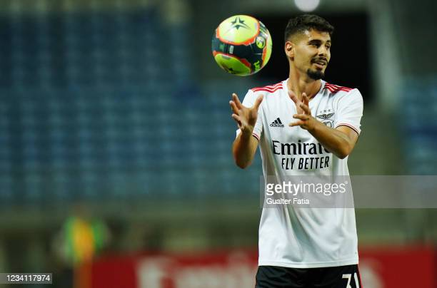 Gil Dias of SL Benfica in action during the Pre-Season Friendly match between SL Benfica and Lille at Estadio Algarve on July 22, 2021 in Loule,...