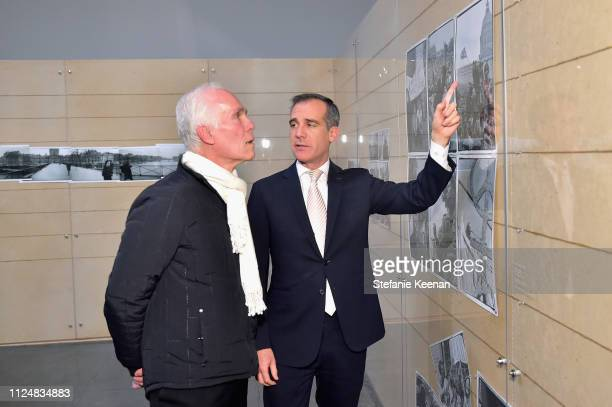 Gil Garcetti and Mayor Eric Garcetti attend Hauser Wirth Los Angeles Opening of Annie Leibovitz and Piero Manzoni and Musical Performance by Patti...