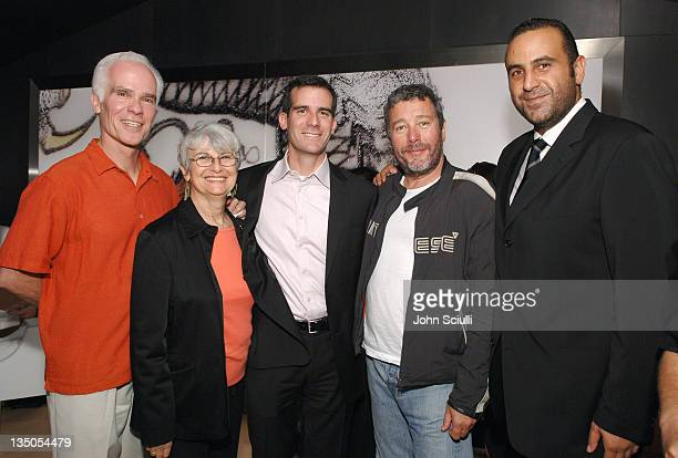 Gil Garcetti Sukey Garcetti Eric Garcetti Los Angeles City Councilmember Philippe Starck and Sam Nazarian CEO of SBE