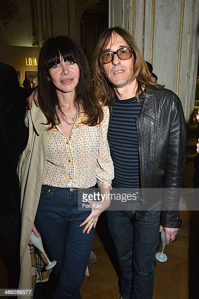 Gil Lesage and Pierre Emery from the Ultra Orange band attend the 'Vers L'Infini Et Au Dela' Mathieu Cesare Book Launch Cocktail at Lo/A Edition Rue...