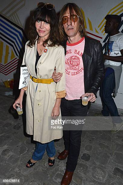 Gil Lesage and Pierre Emery from Ultra Orange band attend the Jean Charles de Castelbajac show as part of the Paris Fashion Week Womenswear...