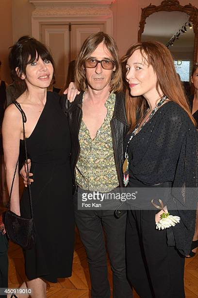 Gil Lesage Pierre Emery from Ultra Orange band and Elise Depardieu attend 'Untold' Perfume by Elizabeth Arden Launch Party At Hotel Mona Bismarck on...