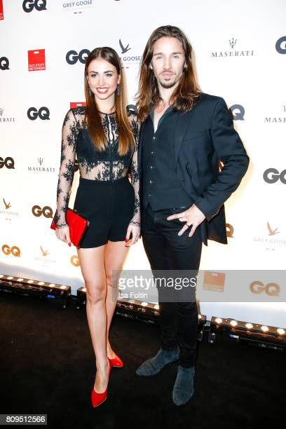 Gil Ofarim and Ekaterina Leonova attend the GQ Mension Style Party 2017 at Austernbank on July 5, 2017 in Berlin, Germany.