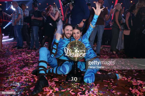 Gil Ofarim and Ekaterina Leonova during the final show of the tenth season of the television competition 'Let's Dance' on June 9 2017 in Cologne...