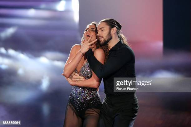 Gil Ofarim and Ekaterina Leonova perform on stage during the 10th show of the tenth season of the television competition 'Let's Dance' on May 26 2017...