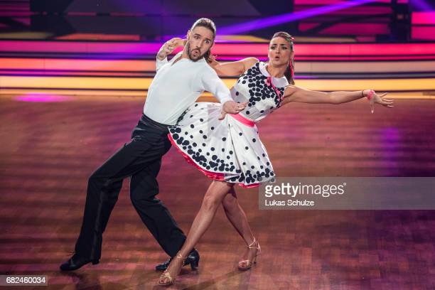 Gil Ofarim and Ekaterina Leonova perform on stage during the 8th show of the tenth season of the television competition 'Let's Dance' on May 12, 2017...