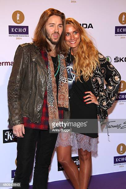 Gil Ofarim and his girlfriend Verena Brock attend the 'Echo Award 2014' on March 27 2014 in Berlin Germany