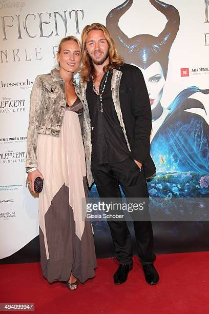 Gil Ofarim and his girlfriend Verena Brock attend the Fashion Meets Movie gala screening of 'Maleficent' at Gloria Palast on May 27 2014 in Munich...