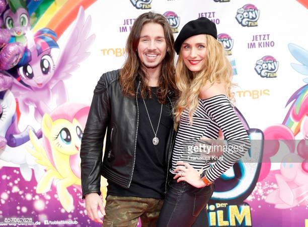 Gil Ofarim and his wife Verena Brock attend the 'My little Pony' Premiere at Zoo Palast on October 3 2017 in Berlin Germany