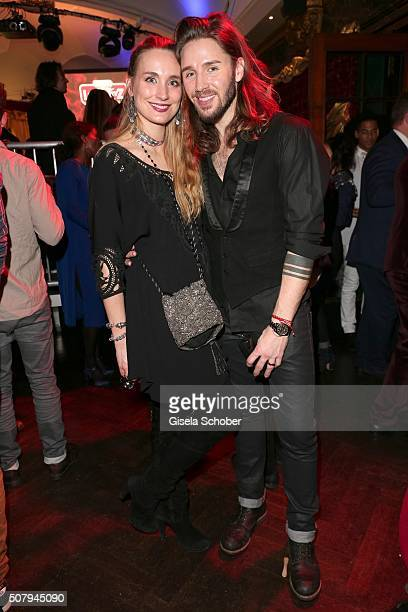 Gil Ofarim and his wife Verena Ofarim during the Lambertz Monday Night 2016 at Alter Wartesaal on February 1 2016 in Cologne Germany