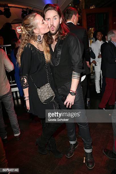 Gil Ofarim and his wife Verena Ofarim during the Lambertz Monday Night 2016 at Alter Wartesaal on February 1, 2016 in Cologne, Germany.
