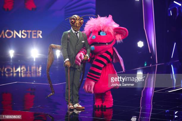 Gil Ofarim and Susi Kentikian at the The Masked Singer finals at Coloneum on August 01 2019 in Cologne Germany
