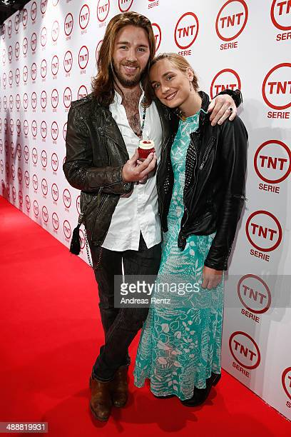 Gil Ofarim and Verena Brock attend a party to celebrate the 5th anniversary of TV channel TNT Serie at Kesselhalle on May 8 2014 in Munich Germany