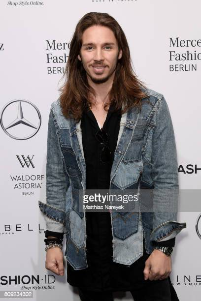 Gil Ofarim attends the Rebekka Ruetz show during the Mercedes-Benz Fashion Week Berlin Spring/Summer 2018 at Kaufhaus Jandorf on July 5, 2017 in...