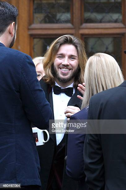 Gil Ofarim attends the wedding of Gil Ofarim and Verena Brock on December 15 2014 in Ismaning Munich Germany