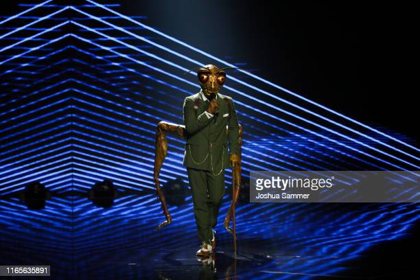 Gil Ofarim performs during the The Masked Singer finals at Coloneum on August 01 2019 in Cologne Germany