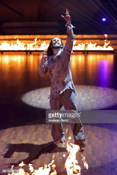 Gil Ofarim performs on stage during the 3rd show of the tenth season of the television competition 'Let's Dance' on March 31, 2017 in Cologne,...