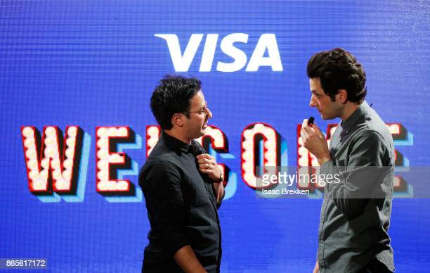 Gil Ozeri and Ben Schwartz perform during the Visa ID Intelligence launch party at Money 20/20 on October 23 2017 in Las Vegas Nevada