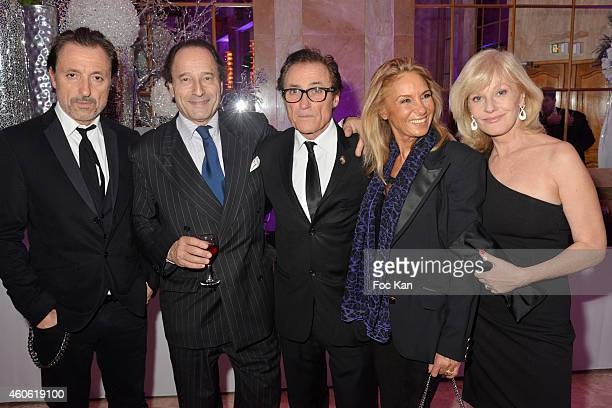 Gil Ros Michel Soyer Franck Ros Martine Bardini and Elisa Servier attend 'Chico and the Gypsies' Auction Concert To Benefit 'Entraide' Children Care...