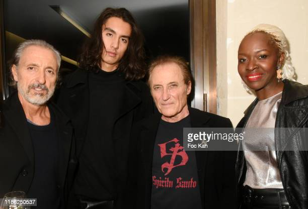 Gil Ros Tony Ros Franck Ros from Paco Chicano and and Satou Luminel attend the Red X BHV Marais Ephemere Boutique Launch Party on November 07 2019 in...