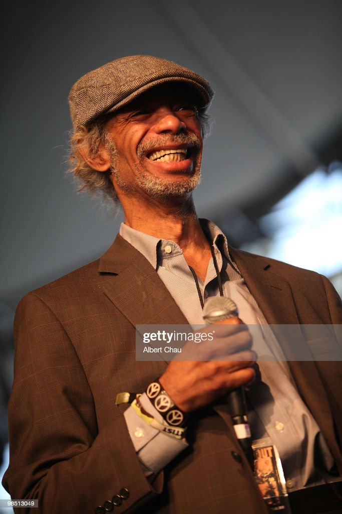 Gil Scott-Heron performs on Day 1 of the 2010 Coachella Valley Music & Arts Festival at The Empire Polo Club on April 16, 2010 in Indio, California.