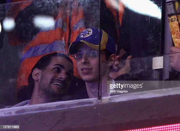 Gilad Shalit attends Maccabi Tel Aviv basketball game during 20112012 Turkish Airlines Euroleague TOP 16 Game Day 2 between Maccabi Electra Tel Aviv...