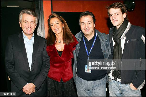Gilbert and Nicole Coullier and their child at Laurent Gerra Hosts The Television Show Flingue La Tele at L' Olympia