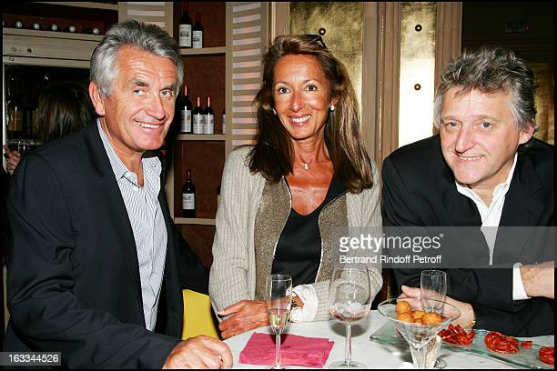 Gilbert and Nicole Coullier Gilbert Rozon at Laurent Gerra Celebrates His Last Show At Olympia With A Dinner At Le Balzac In Paris