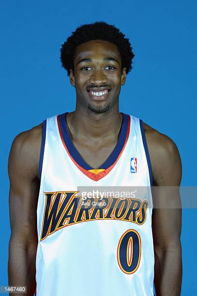Gilbert Arenas of the Golden State Warriors poses for a portrait during the Warriors Media Day on September 30 2002 at The Arena in Oakland in...