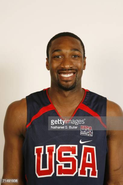 Gilbert Arenas of the USA Basketball Men's Senior National Team poses for a portrait on July 20 2006 at the Cox Pavilion in Las Vegas Nevada NOTE TO...