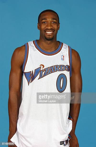 Gilbert Arenas of the Washington Wizards poses for a portrait during NBA Media Day on October 4 2004 in Washington DC NOTE TO USER User expressly...