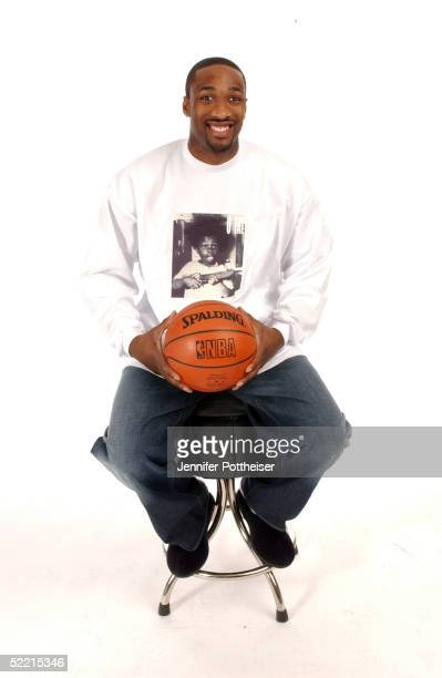 Gilbert Arenas of the Washington Wizards poses for a portrait during the 2005 NBA AllStar Media Availabilty at the Westin Hotel February 18 2005 in...