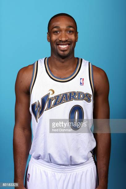 Gilbert Arenas of the Washington Wizards poses for a portrait during NBA Media Day on September 26 2008 at the Verizon Center in Washington DC NOTE...