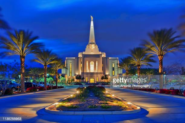 gilbert, arizona temple of the church of jesus christ of latter-day saints, lds, mormon - latter stock pictures, royalty-free photos & images