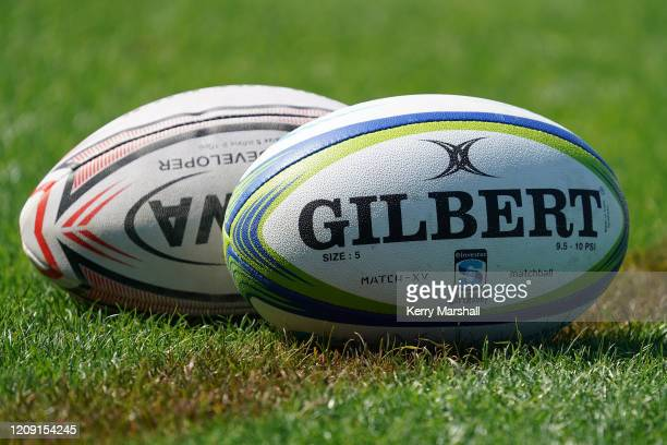Gilbert balls during a Hurricanes Super Rugby training session at McLean Park on February 28, 2020 in Napier, New Zealand.