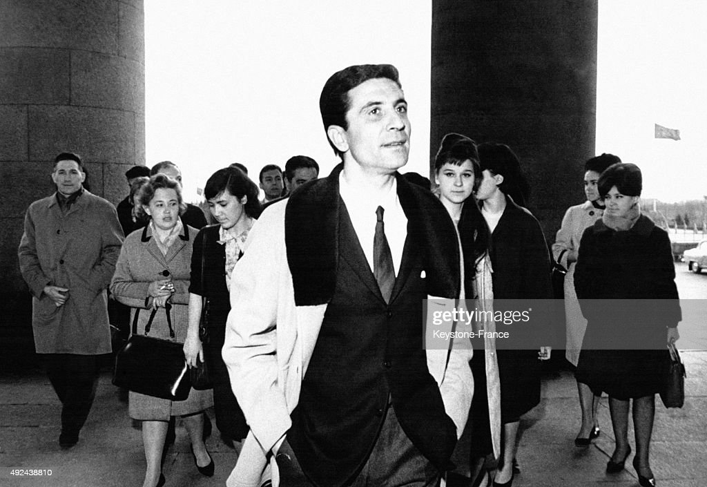 Gilbert Becaud At The Moscow University : News Photo