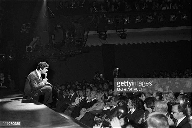 Gilbert Becaud on stage at the Oluympia in Paris France on Octorber 24 1973
