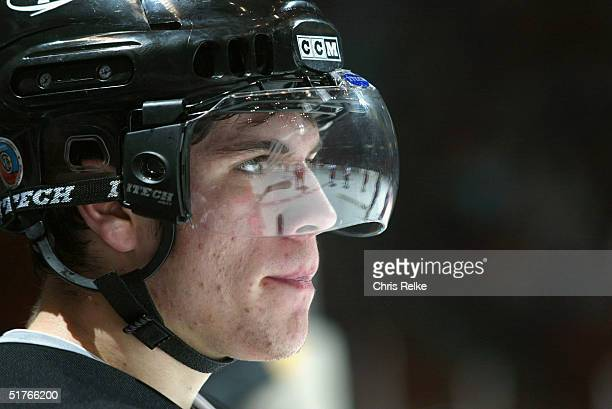 Gilbert Brule of the Prince George Cougars looks on during the game against the Vancouver Giants at Pacific Coliseum on October 13 2004 in Vancouver...